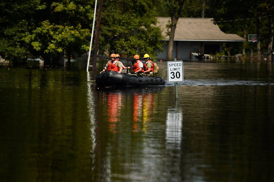 The Texas National Guard performing search and rescue after Hurricane Harvey. Source: USDA, public domain, via Flickr.
