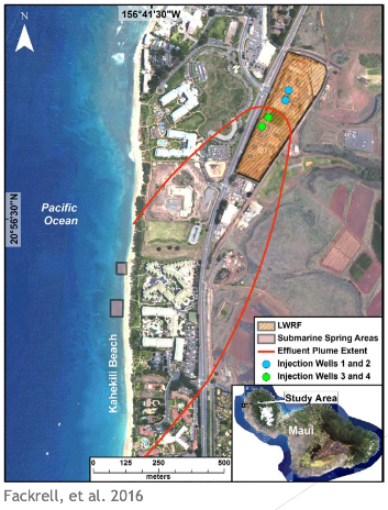 Maui sewage discharge map
