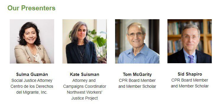 Worker Private Right of Action Webinar Speakers